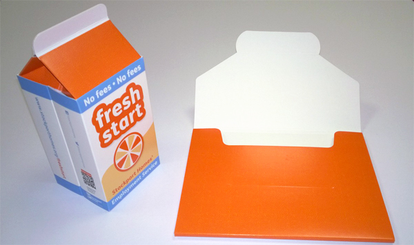 Pop Up Juice Box With Envelope